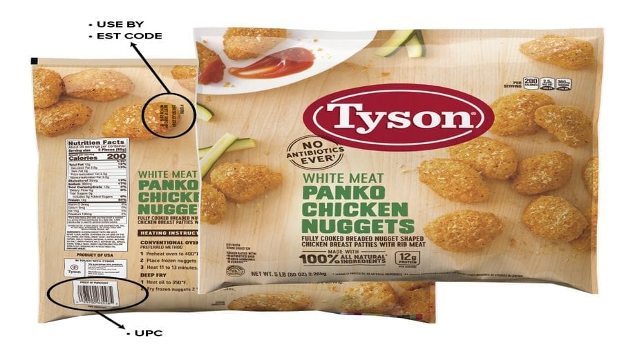Tyson Foods Recalls Chicken Nuggets On Rubber Contamination Concerns